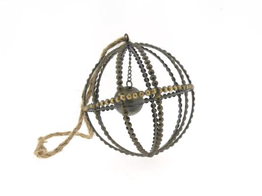 <h4>Ball Mtl+rope Ø16xh18 Ant.gold</h4>