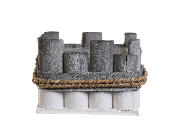 <h4>DF530101100 - Planter Gerlaw 16.5x16.5x11 grey/white</h4>