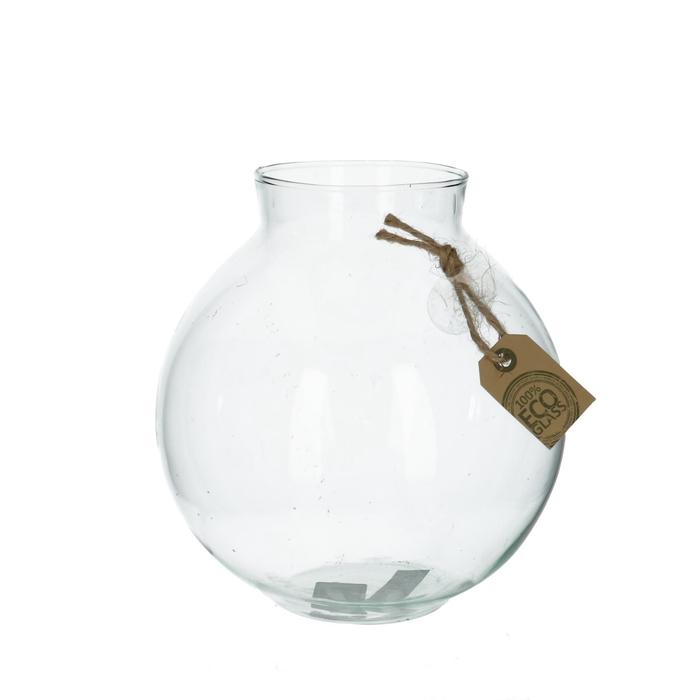 <h4>Glas Eco bolvaas kraag d10/19*19cm</h4>