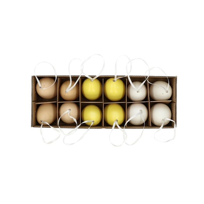 <h4>Promo Chicken egg d4*6cm mat x12</h4>