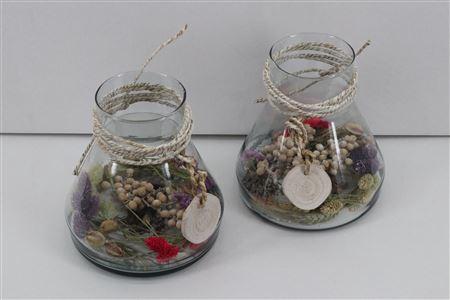 <h4>Arr. Driedflowers Glass Paris</h4>