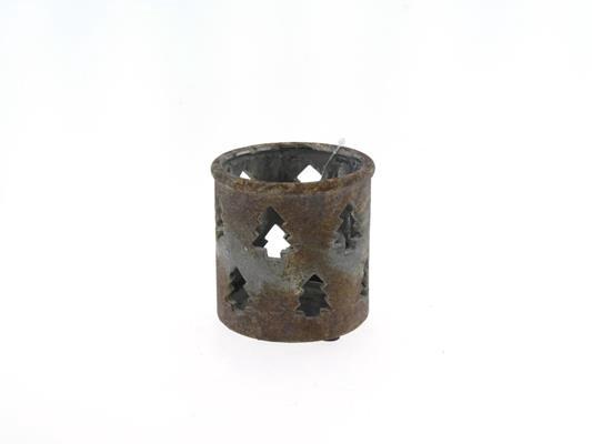 <h4>Tealight Conc/tree Ø11x11 Rust</h4>