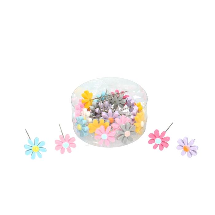 <h4>Decoratie Spelden bloemen 25mm x24</h4>