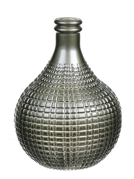 <h4>DF663413400 - Bottle Caro13 d11xh15 metallic green</h4>