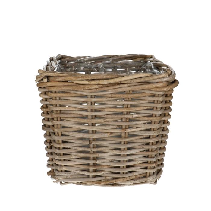 <h4>Baskets Rattan pot sq d27*25cm</h4>