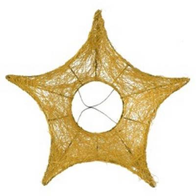 <h4>Bouquet holder Star sisal Ø25cm Gold</h4>