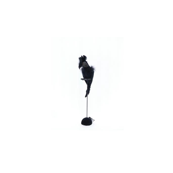 <h4>Fig. Black Feather Parrot 30cm</h4>
