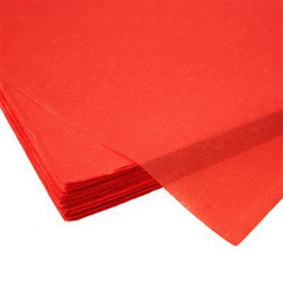<h4>Papier vel: 50x75cm zijde 480 vellen 17gr rood *</h4>