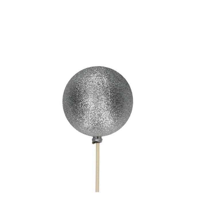 <h4>Christmas sticks 50cm Christm.ball glitter d6cm</h4>