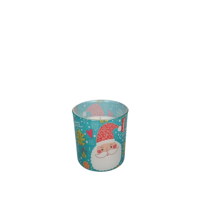 <h4>Kaars Glaspot geur Santa d8*7cm</h4>