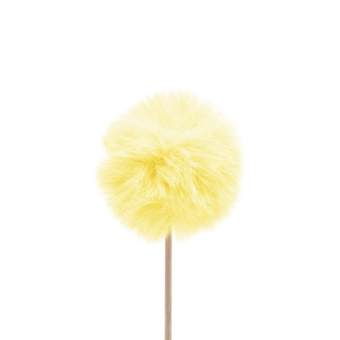 <h4>Bijsteker 50cm Fluffy bal 6cm</h4>