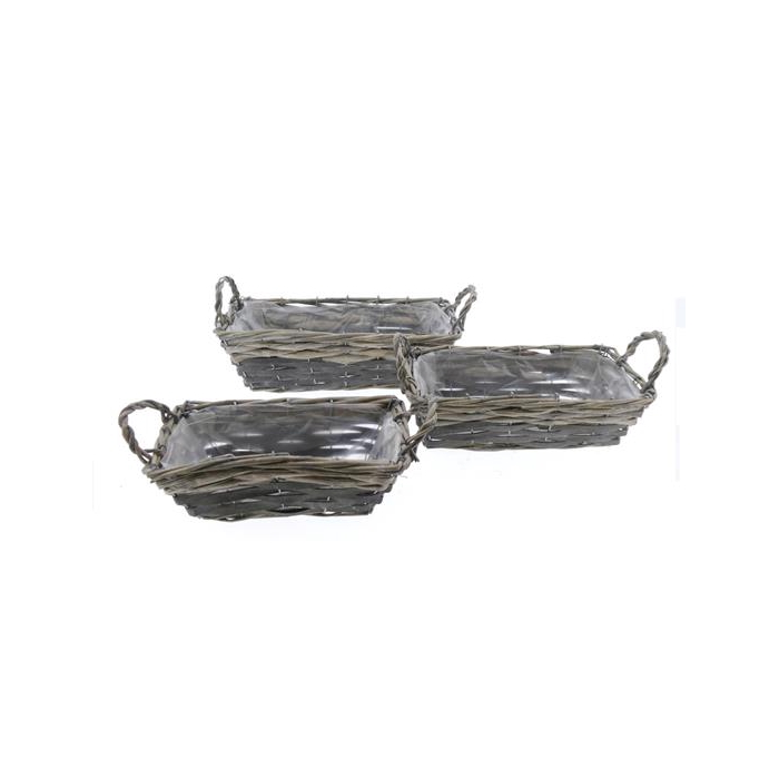 <h4>Basket Willow S/3  35x18x11cm</h4>