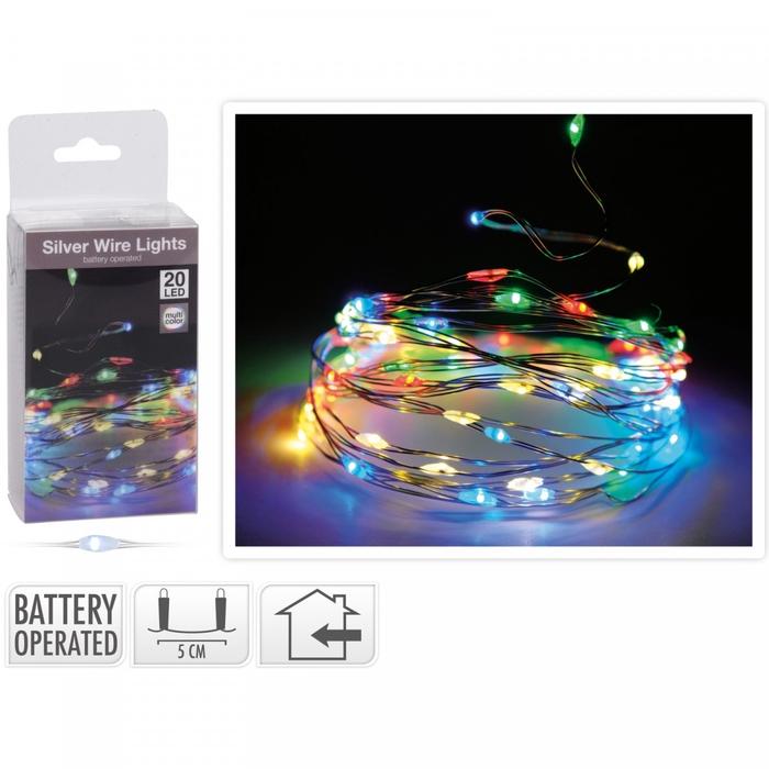 <h4>Kerst LED draad  20lmp (ex batt)</h4>