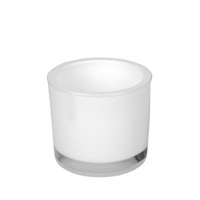 <h4>Pot glas Soweto wit D9xH8cm</h4>