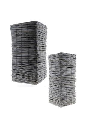 <h4>Basket Tingting S/2 28x28x55cm</h4>