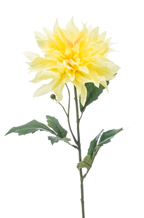 <h4>SILK DAHLIA SPRAY 60CM YELLOW 421894</h4>