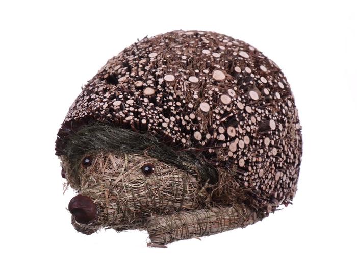 <h4>DF881600300 - Hedgehog wood+straw l38cm</h4>