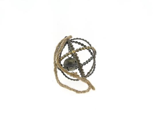<h4>Ball Mtl+rope Ø10xh12 Ant.gold</h4>