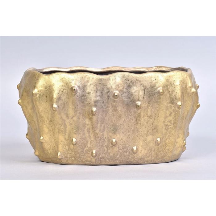 <h4>Amarillo Goud Pot Ovaal 28x17x14cm</h4>