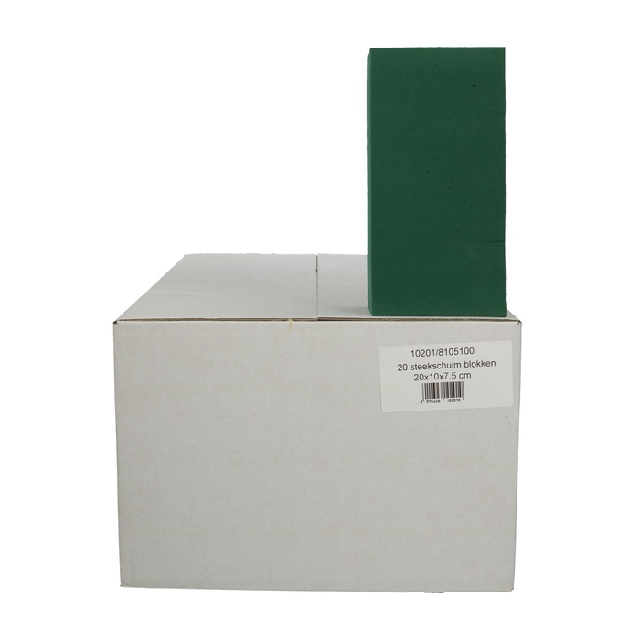 <h4>Foam Basic Foam block 20*10*7.5cm x20</h4>