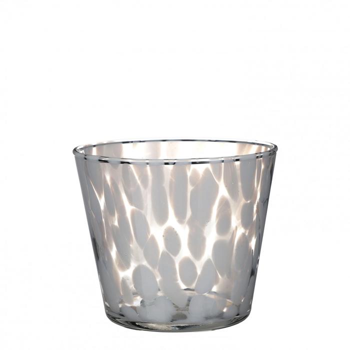 <h4>Glas kleur Spots pot d13.5*11.5cm</h4>