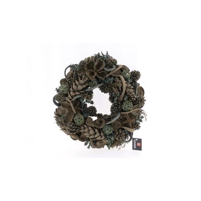 <h4>Wreath In 38cm Green 45374</h4>