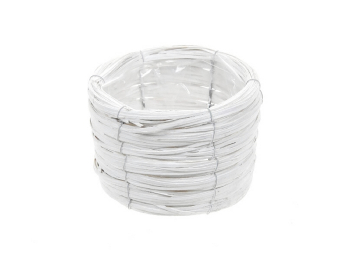 <h4>DF470601800 - Basket Paia d17xh12 white</h4>