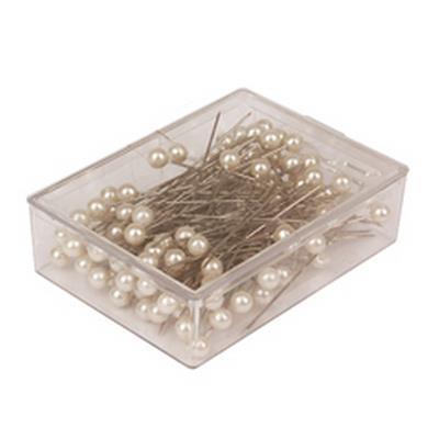 <h4>Epingles decoratives 6cm blanc - boîte 100 pcs</h4>