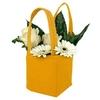 Bag Pastel felt 12,5x11,5xH14,5cm orange