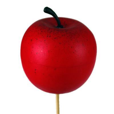 <h4>Bijsteker Appel Ø6cm+50cm stok rood</h4>
