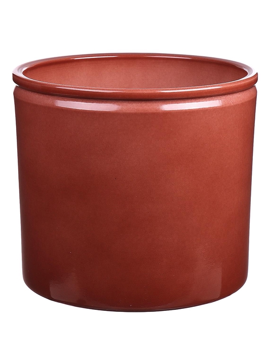 <h4>DF883750200 - Pot Lucca1 d19.4xh17.6cm brown glazed</h4>
