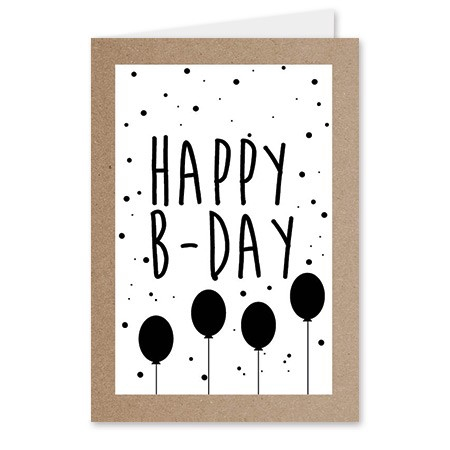 <h4>Labels Card 08*6cm x20 Happy B-day</h4>