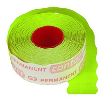 <h4>Étiquettes à prix Contact permanent 25x16mm vert</h4>