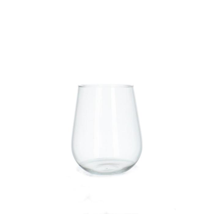<h4>Glass Ball vase Hugo d12/16*19cm</h4>