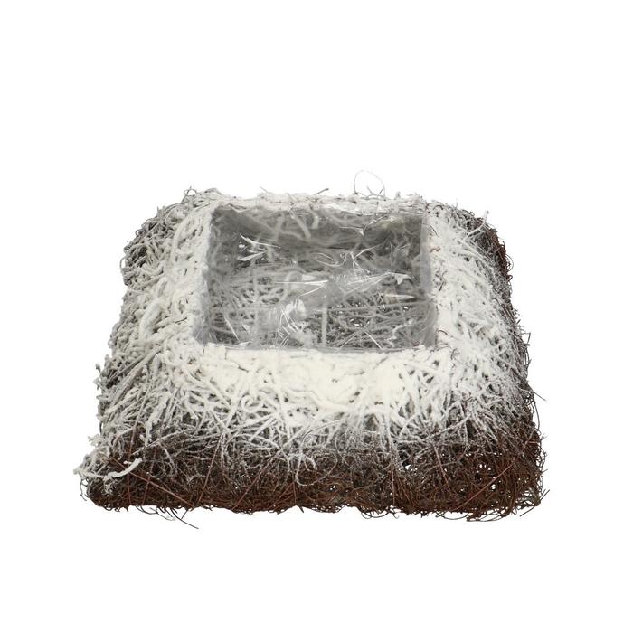 <h4>All Saints Salim planter square+snow 25cm</h4>
