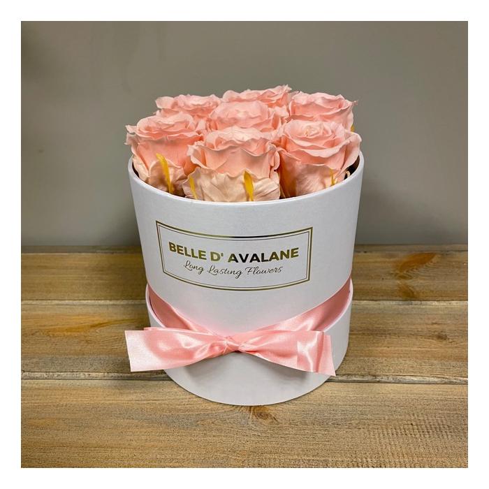 <h4>Box rd 15cm wit-roze</h4>