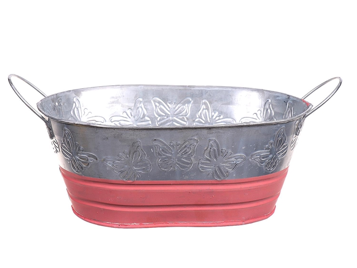 <h4>DF662730600 - Planter Terrie oval 26x17.5xh11 pink</h4>