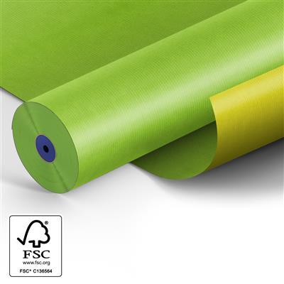 <h4>Papier 60cm blanc 50gr 2c fond jaune/vert 400m.</h4>