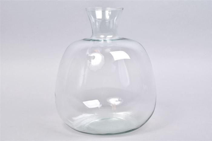 <h4>Glas Vaas Fles 25x29cm</h4>