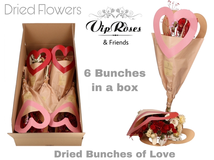 DRIED BOUQUET BUNCHES OF LOVE