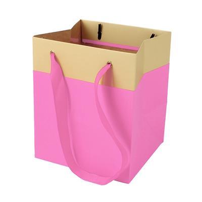 <h4>Bag Facile carton 12,5x11,5xH14,5cm pink</h4>