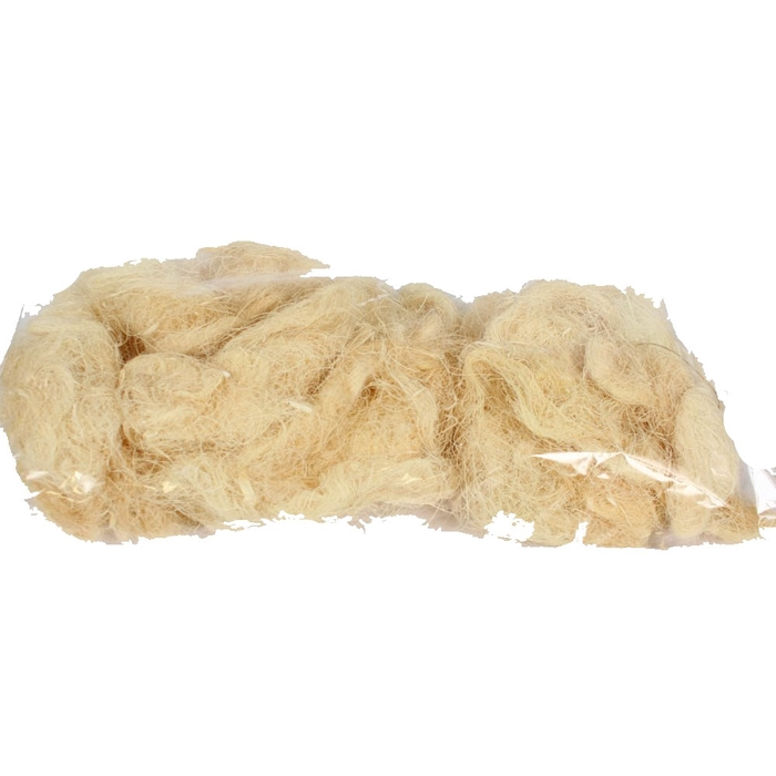 <h4>Coco fibre 250gram in poly gebleekt </h4>