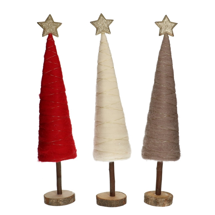 <h4>Christmas Christmastree wool d9*46cm ass.</h4>