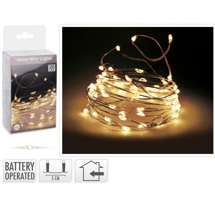 <h4>Christmas LED wire  20lmp (incl. batt)</h4>