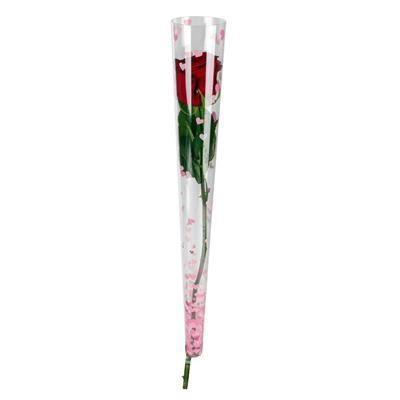 <h4>Tube conique Rising Hearts 46x6x2cm rose</h4>