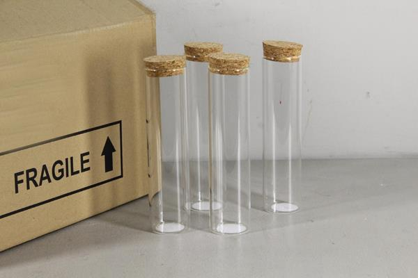<h4>Glass Bottle With Cork Ø5x20cm</h4>