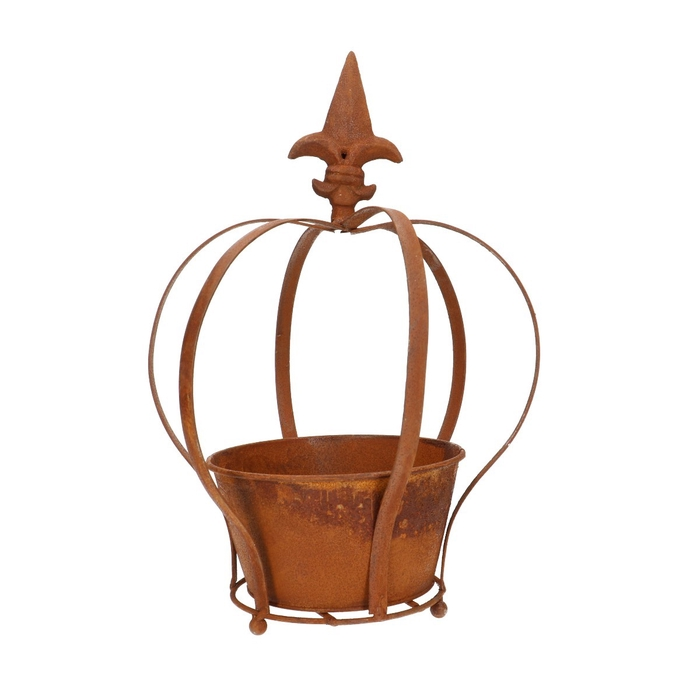 <h4>Zinc Crown+pot d24*31cm</h4>