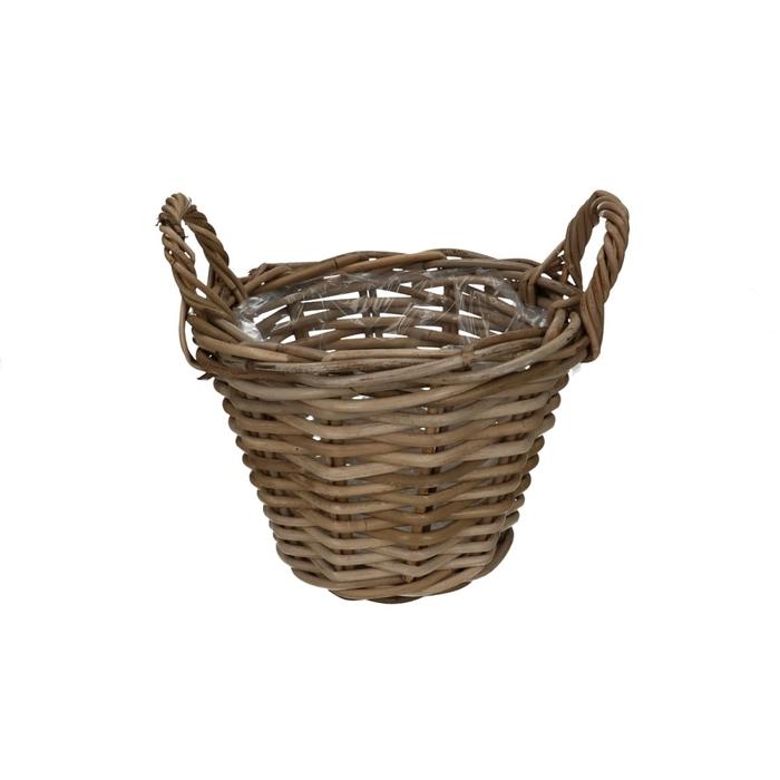 <h4>Baskets Rattan pot+handle d25*19cm</h4>