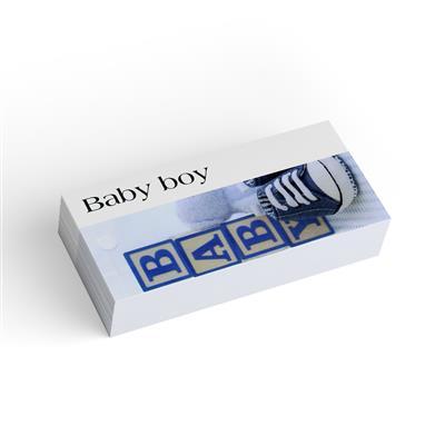 <h4>Bloemkaart stylish 18 baby boy-pakje 20 stuks</h4>