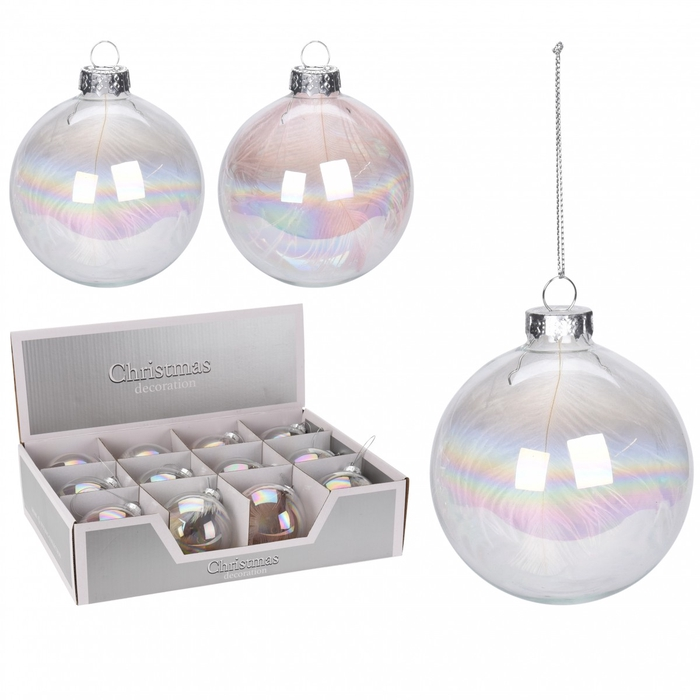 <h4>Christmas bauble Ball deco glass 80mm</h4>
